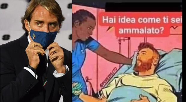Mancini, scivolone social: «Come ci si ammala di Covid? Guardando i tg»