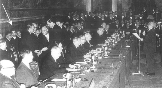 Trattato di Roma, l'ultimo testimone, Achille Albonetti: «La Cee figlia dei colloqui segreti sulla bomba atomica europea»