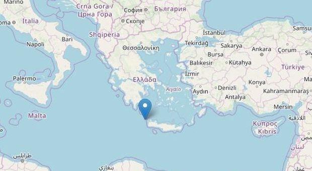 Terremoto in Grecia, scossa di magnitudo 6.0 al largo dell'isola di Creta: avvertita anche in Puglia
