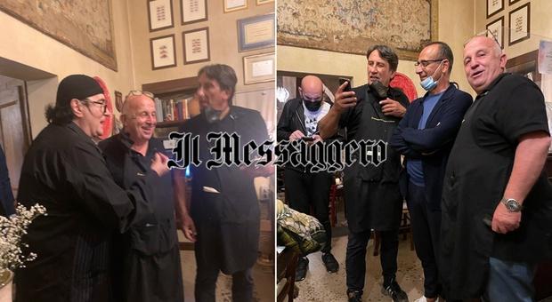 I big ripartono dall'Umbria: Renato Zero e Carlo Conti a cena a Spello
