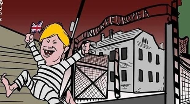 Ue come Auschwitz, la comunità ebraica: «La satira non si fa sulla Memoria: il Comune interrompa rapporti con vignettista»
