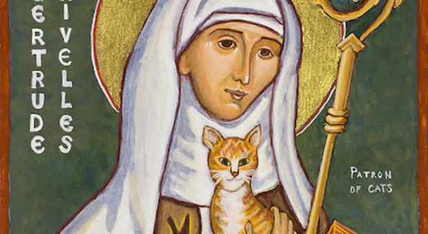 Gatto ammalato? Si può pregare Santa Gertrude di Nivelles, patrona dei felini Ecco perché