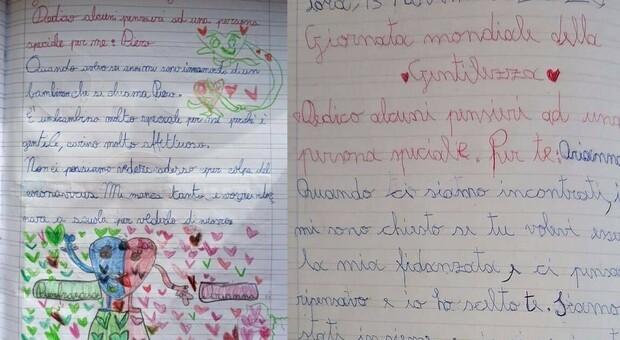 Le lettere dei due alunni