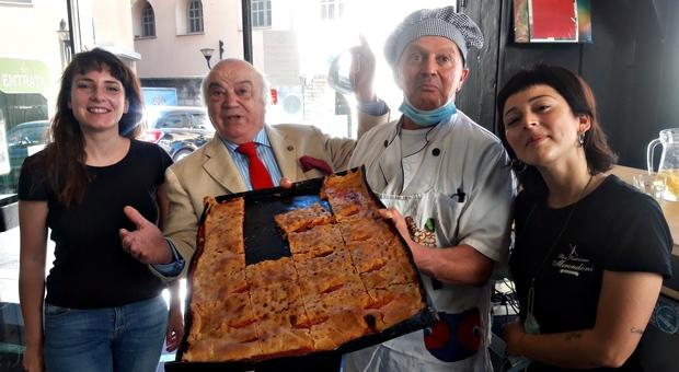 """Patto Brodoloni-Merendoni per esaltare la pizza sfoglia made in Foligno. Nasce la """"Loggia palese, Il Dolce Stil Novo della Pizza Sfoglia di Filigni"""""""