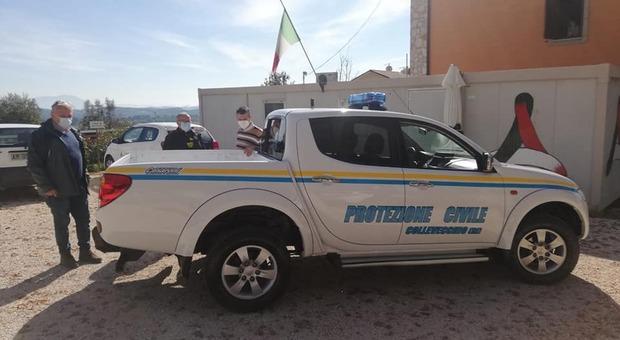 Rieti, a Collevecchio imprenditori e commercianti donano un pickup a disposizione della Protezione Civile