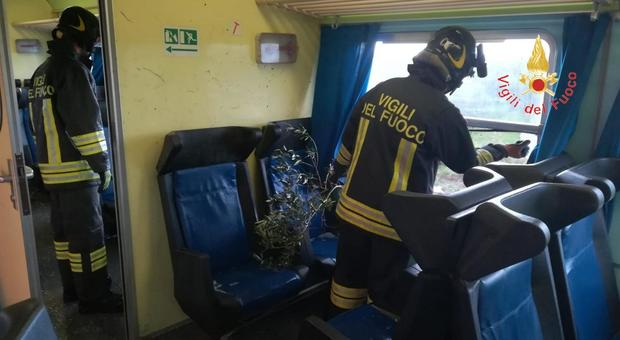 Whirlwind on a train in Catanzaro: broken windows, passenger injuries