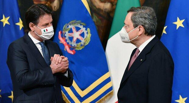 Conte dopo l'incontro con Draghi: «M5S darà il suo contributo sulla giustizia. Ddl Zan? Lo appoggiamo»