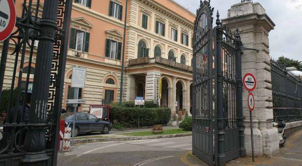 L'ingresso dell'ospedale Umberto I