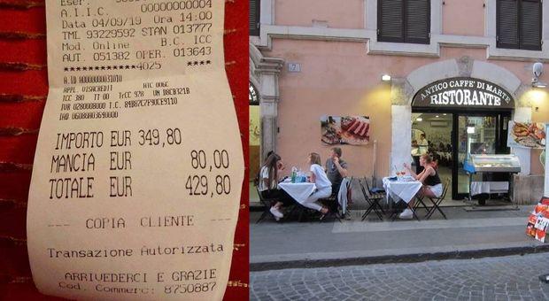 Roma, scontrino da 430 euro alle turiste giapponesi per due piatti di spaghetti