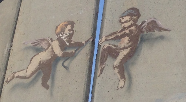 Banksy a Betlemme (foto di Valentina Venturi)