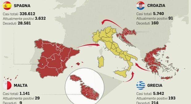 Virus, centomila italiani in vacanza in località a rischio: rischio bomba sanitaria
