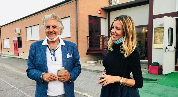 Martufello e Alessia Fabiani alla presentazione della stagione 2020/2021 del Teatro degli Audaci, diretta da Flavio De Paola
