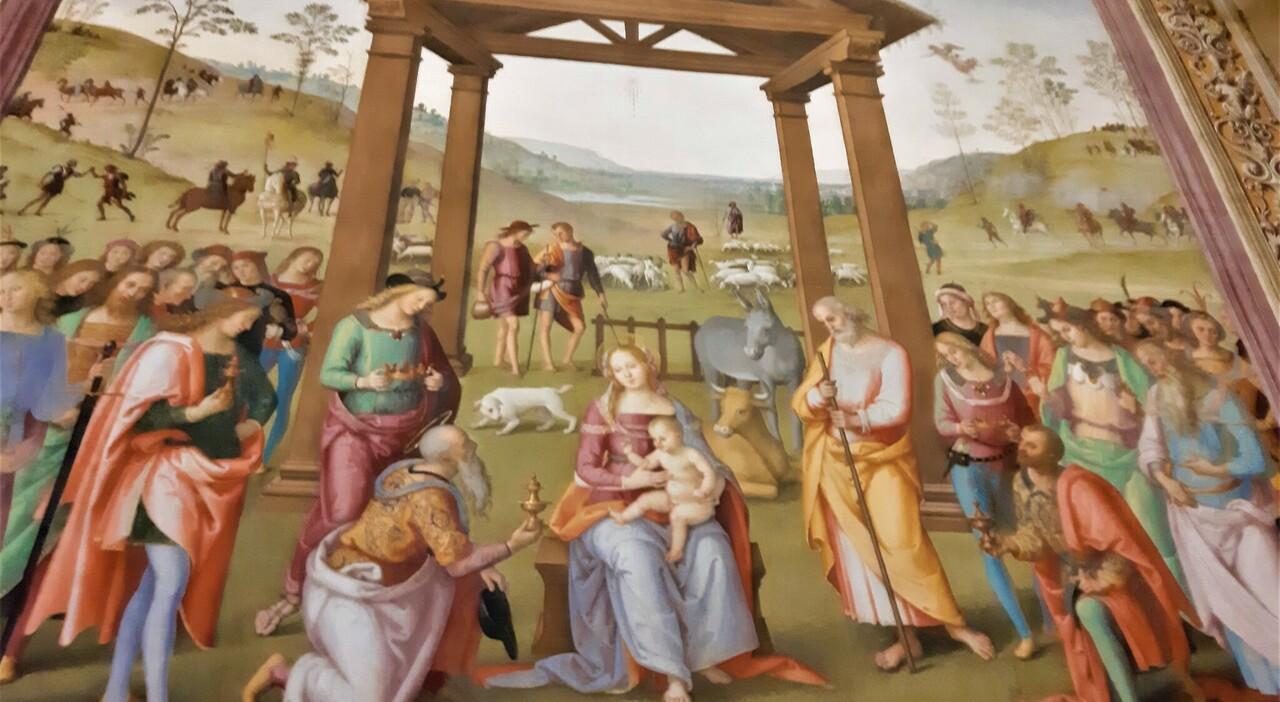 Adorazione dei Magi, Perugino, Città della Pieve