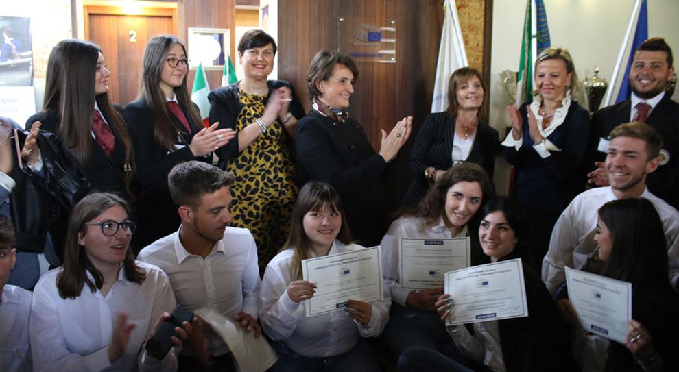 """la cerimonia all'Istituto Alberghiero """"Angelo Celletti"""" di Formia"""