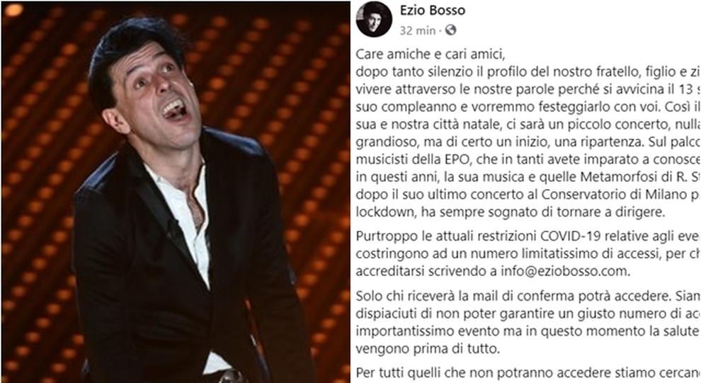 Ezio Bosso La Famiglia Su Facebook Un Concerto Per Il Suo Compleanno