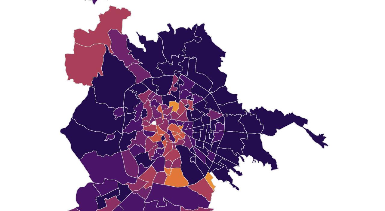 Covid, la mappa dei contagi nei quartieri di Roma: resta alta l'incidenza fuori dal Gra