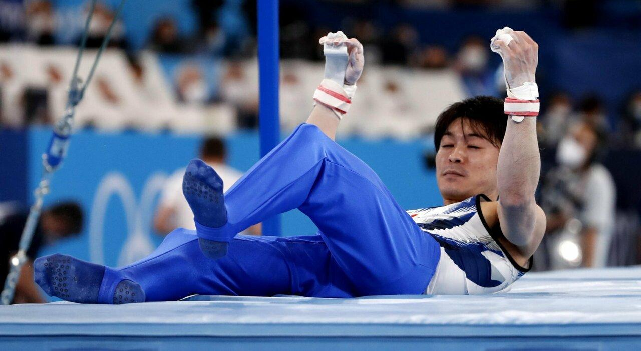 """Uchimura, caduta della stella della ginnastica artistica: Giappone in """"lutto"""""""