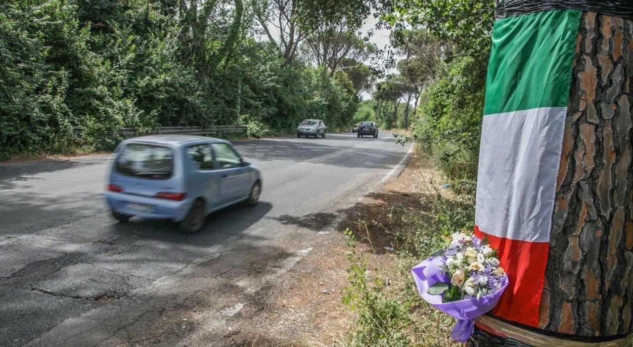 Il tratto di Cassia in cui è morto Edoardo Moschini (foto PAOLO PIRROCCO/TOIATI)