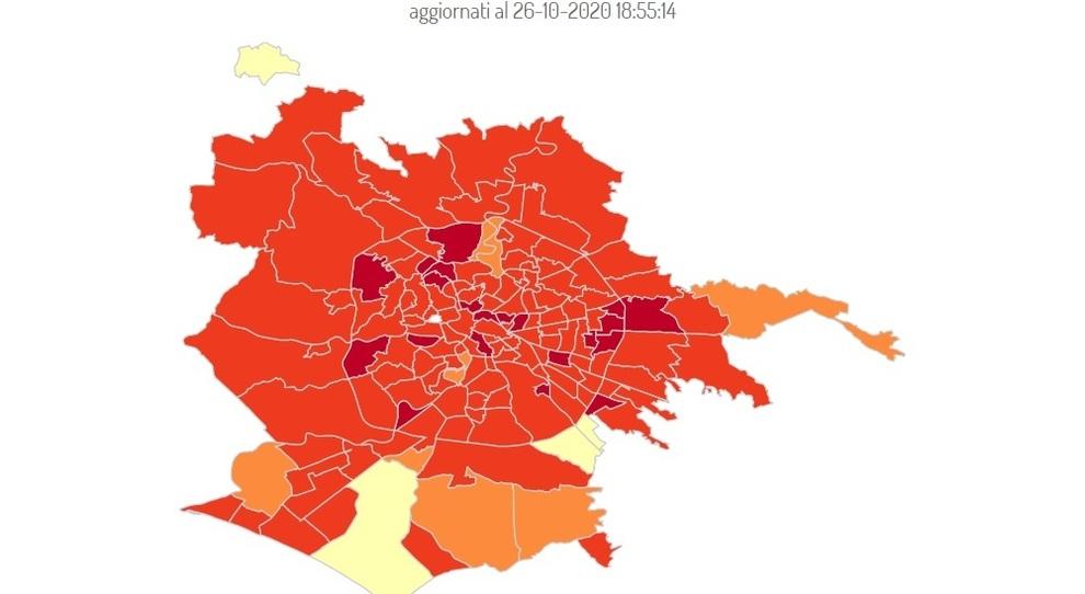 """Covid Roma, 4mila casi in 7 giorni: boom a Tor Sapienza (+108%) e Tiburtino (+57,6%). La mappa delle nuove """"zone rosse"""""""