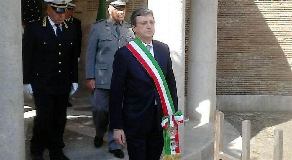 Andrea Polichetti quando era commissario a Priverno