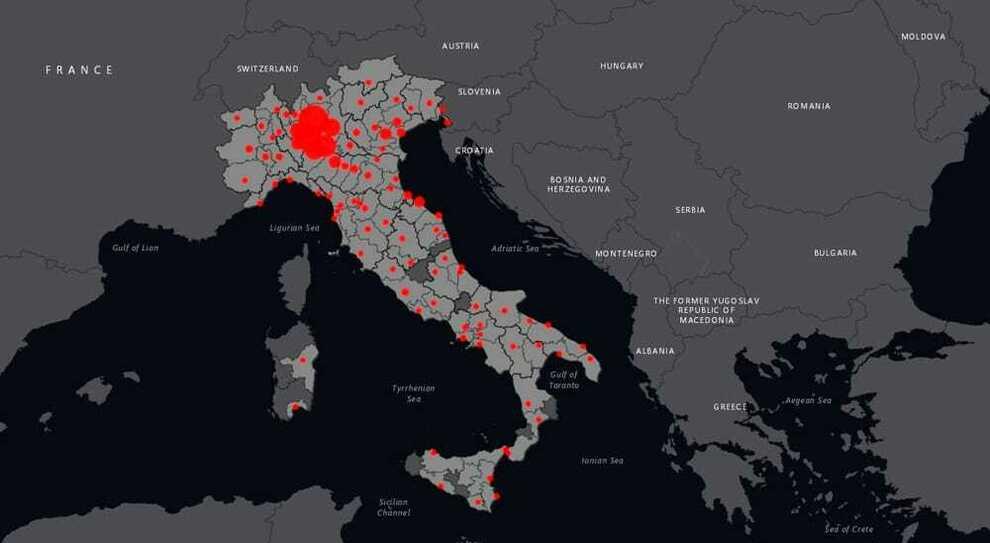 Cartina Italia Politica Torino.Contagi Covid Da Milano A Torino Napoli E Roma Ecco La Mappa Delle Citta Piu Colpite