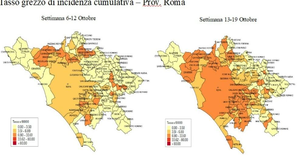 """Covid, Roma e il Lazio: in 14 giorni boom di """"zone rosse"""": ecco dove corre il contagio"""