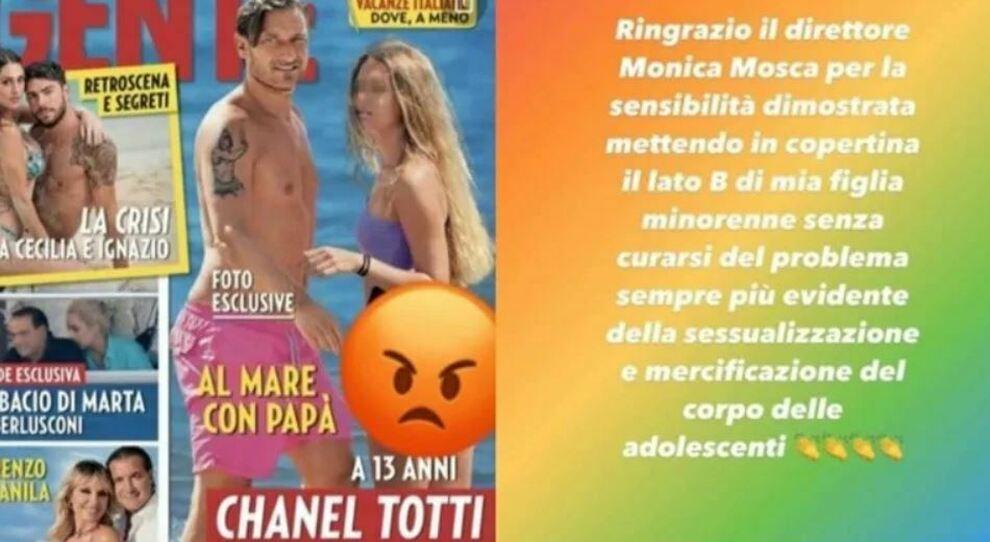 Totti: «Via quella foto, Chanel ha solo 13 anni». Francesco e Ilary Blasi contro la copertina di Gente