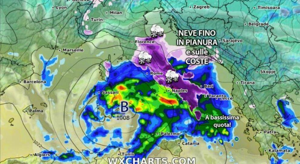 Meteo weekend San Valentino; non è esclusa la neve a Roma