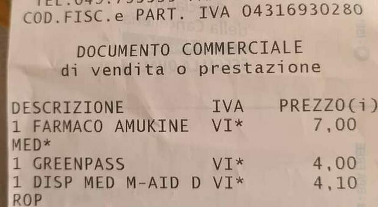 «Green pass stampato? Sono 4 euro», è bufera sulla farmacia delle Terme