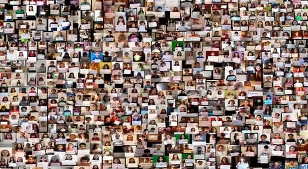 Collage del Coro di Europa InCanto