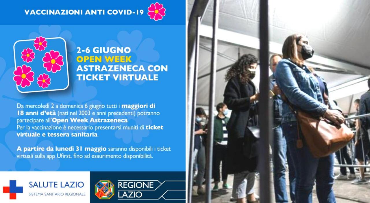 Vaccini, Open Day Lazio (2-6 giugno) aperto a tutti da 18 anni in su: come prenotare, quando e in quali centri