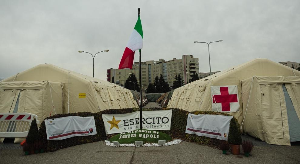 L'ospedale da campo dell'Esercito a Perugia