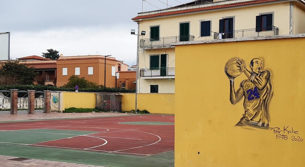 Il murale all'Arena Mallozzi di Scauri