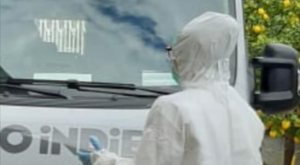 L'ambulanza biocontenitiva in giro per la città