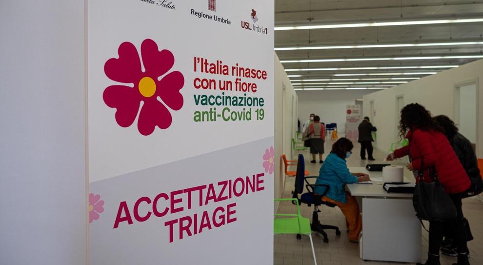 Il punto vaccini di Ponte d'Oddi a Perugia