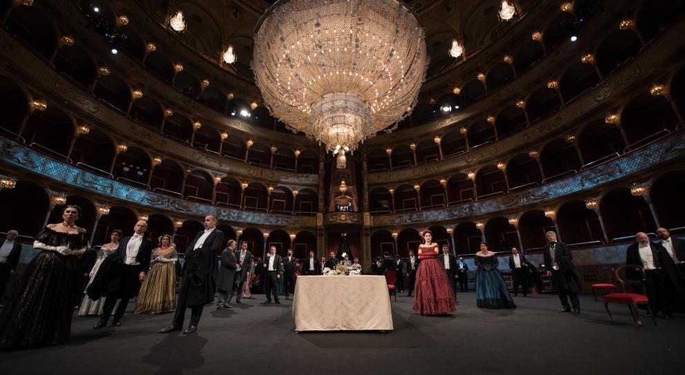 Teatro dell'Opera: il set della Traviata, regia di Martone