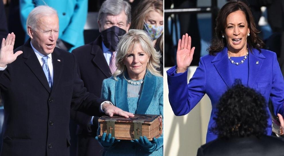 Biden-Harris, giuramento in diretta: «Aiutatemi a riunire l'America, inverno di pericolo». Lady Gaga canta l'inno. Trump: «In qualche modo torneremo»