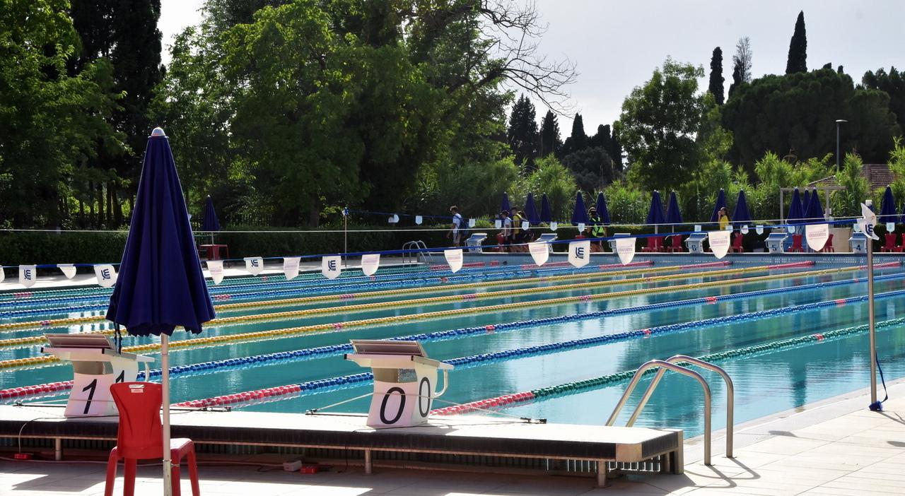 La vasca esterna delle Piscine dello Stadio