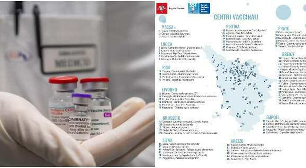 Vaccini Toscana, come prenotare, dove e quale farmaco hanno a disposizione i diversi centri