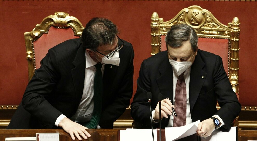 Draghi, il leghista Giorgetti è la sua ombra e Brunetta seduce M5S