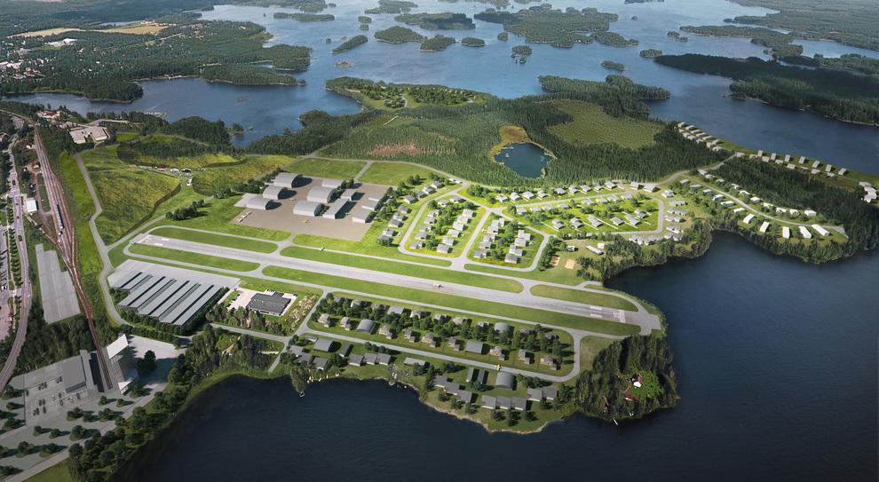 Il progetto del Lakeside Airpark in Finlandia