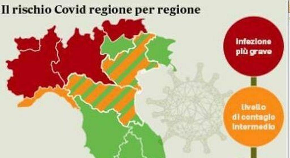 Coprifuoco, regioni rosse, arancioni e verdi: i nuovi divieti, dal lockdown a spostamenti, bar e scuola