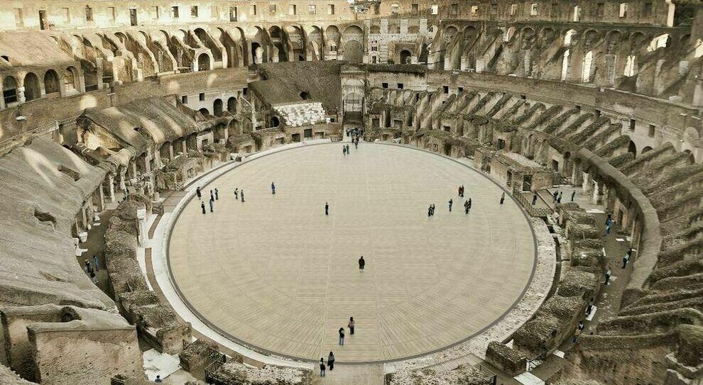 Colosseo, legno e tecnologia: ecco come sarà la nuova arena. Franceschini: «Pronta nel 2023»