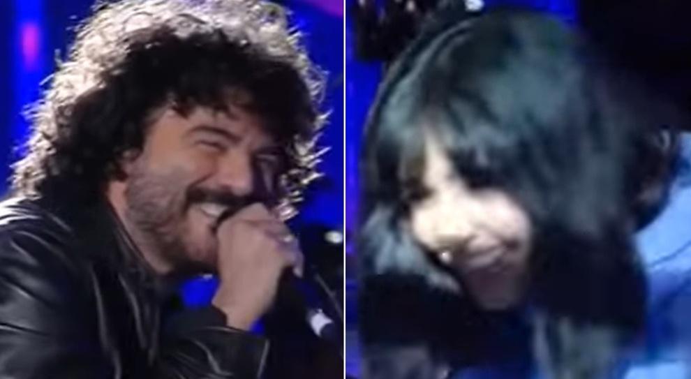Concertone, Francesco Renga si emoziona davanti ad Ambra e dimentica le parole della canzone scritta per lei