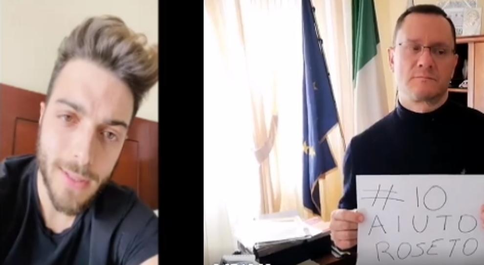 Gianluca Ginoble (Il Volo) e Sabatino di Girolamo in coro lanciano l'hashtag: #ioaiutoroseto