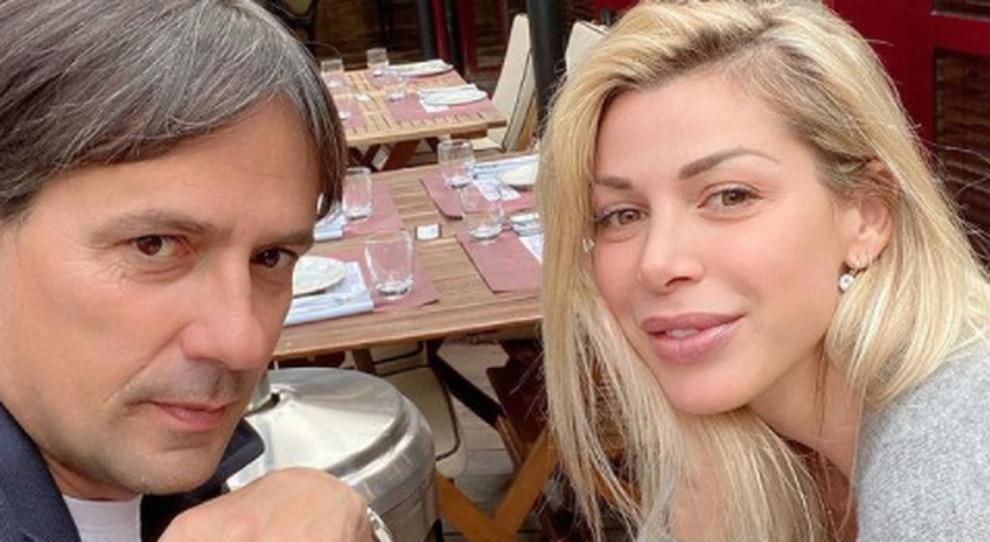 Simone Inzaghi, la moglie Gaia e i figli positivi al Covid: «Per 5 giorni i test sono stati negativi»