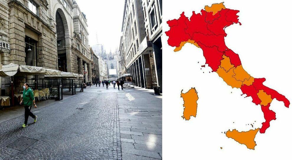 Lombardia, Piemonte, Emilia e Friuli zona arancione? Campania verso rosso, Lazio non cambia: domani mappa