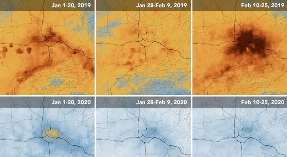 Il coronavirus fa bene alla Terra: fabbriche ferme in Cina, stop ai gas nocivi, inquinamento giù del 30%