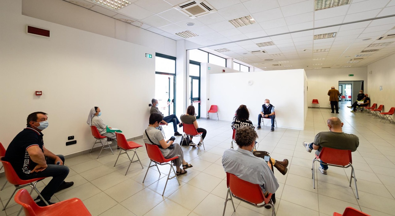 Il centro vaccinale di Bastia