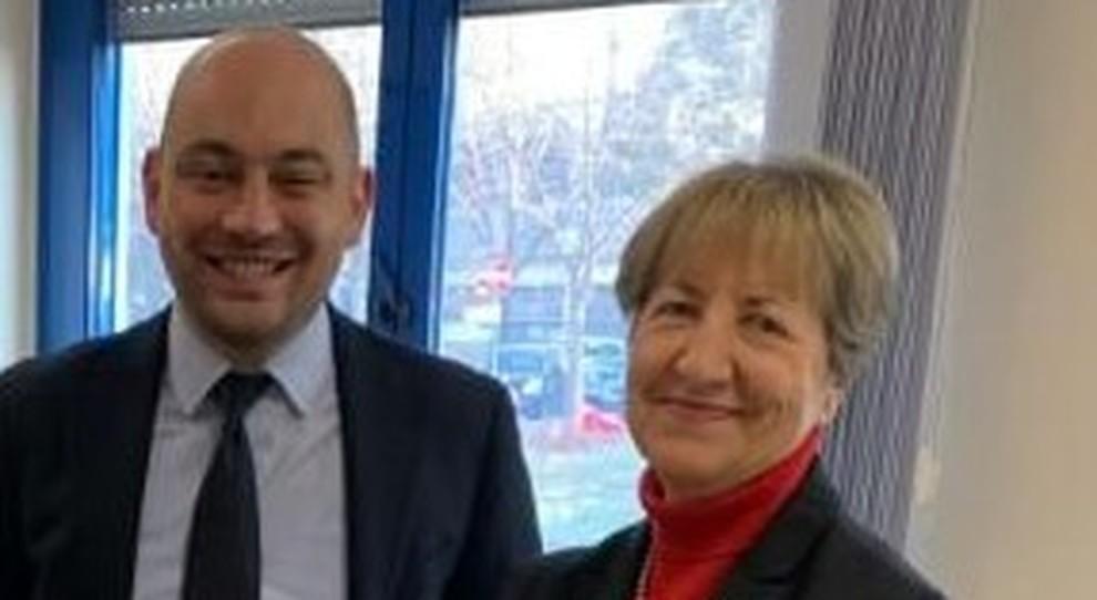 Il direttore generale Stefano Lorusso e il direttore sanitario Patrizia Magrini